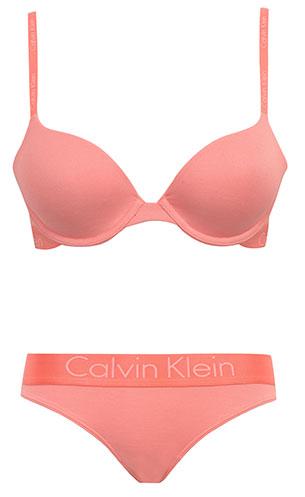 ชุดชั้นใน Calvin Klein Dual Tone Natural Lift T-Shirt สีพีช