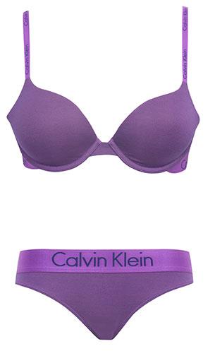 ชุดชั้นใน Calvin Klein Dual Tone Natural Lift T-Shirt สีม่วง