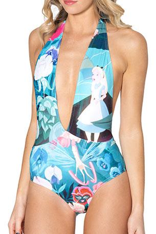 ชุดว่ายน้ำแฟชั่น Alice in Wonderland