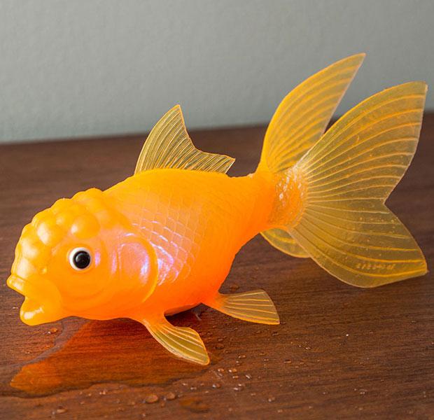 ตุ๊กตาปลาทองลอยน้ำ