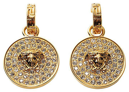 ต่างหู Versace สีทอง