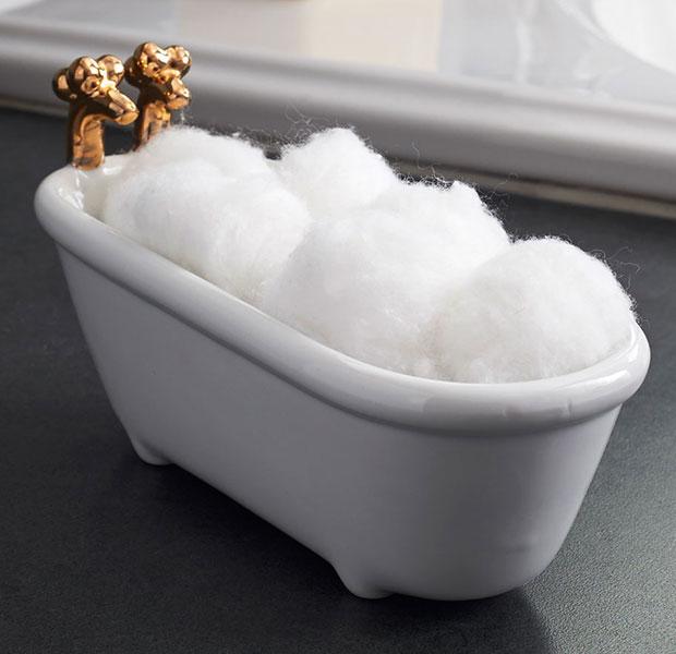 ที่วางสำลี อ่างอาบน้ำ