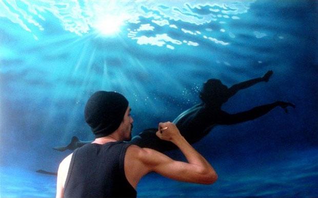 ภาพวาดเสมือนจริง ว่ายน้ำ