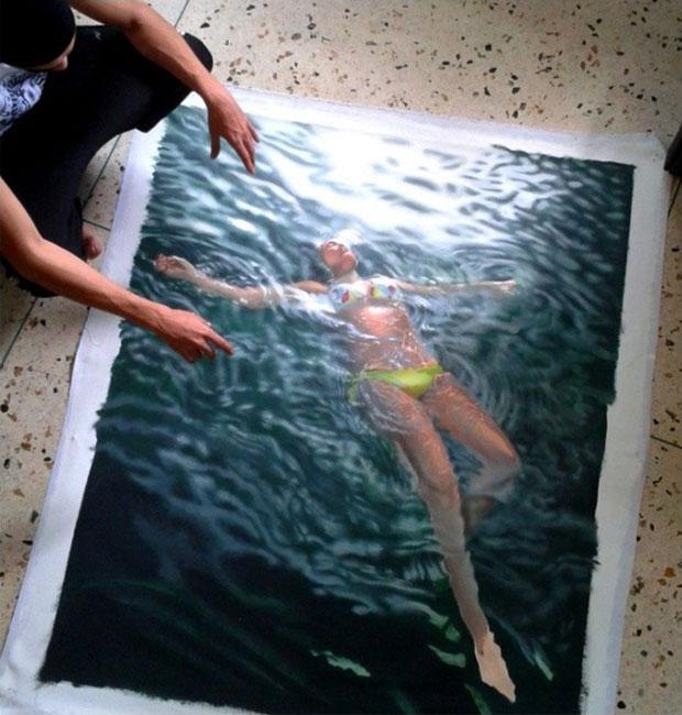 ภาพวาดเสมือนจริง สระว่ายน้ำ