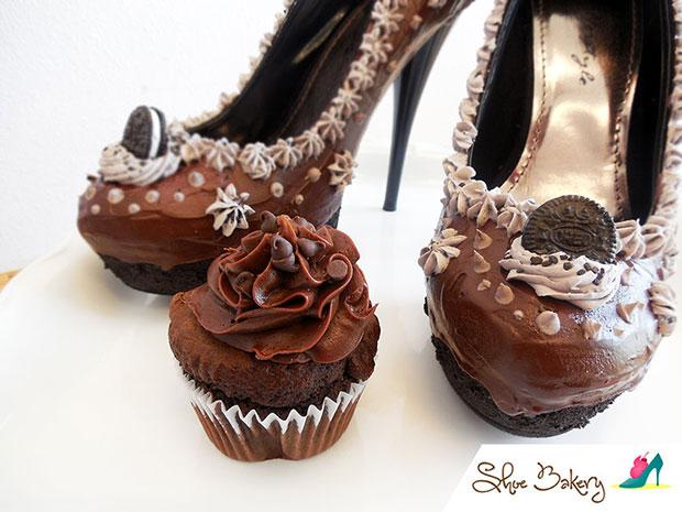 รองเท้าส้นสูง เค้ก Chocolate