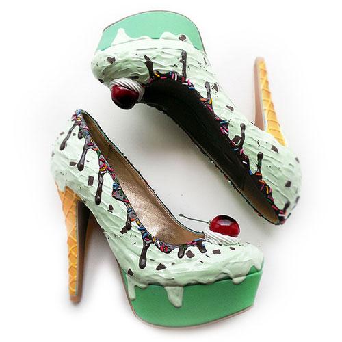 รองเท้าส้นสูง ไอศกรีมมินต์