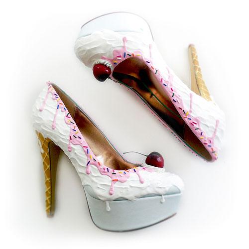 รองเท้าส้นสูง ไอศกรีม