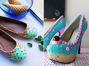 รองเท้าส้น ไอศกรีม