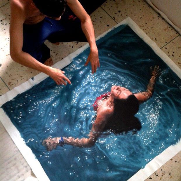 รูป Hyperrealistic สระน้ำ