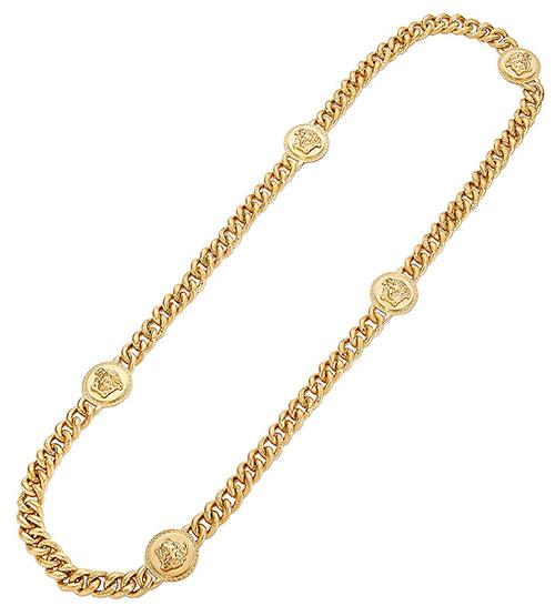 สร้อยคอยาว Versace สีทอง
