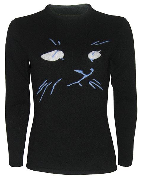 สเวตเตอร์ หน้าแมว สดำ