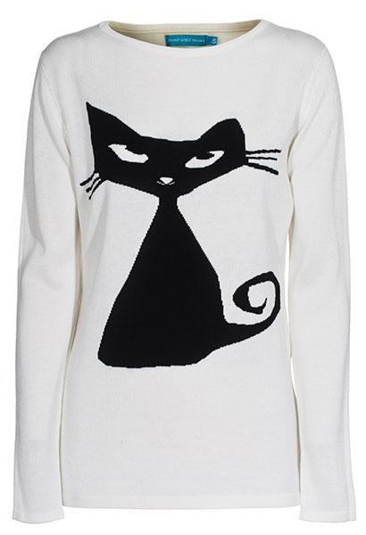 สเวตเตอร์ แมวดำ