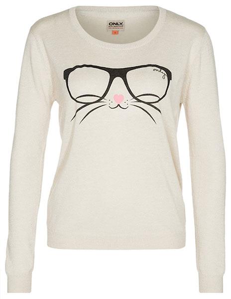 สเวตเตอร์ แมวใส่แว่นตา
