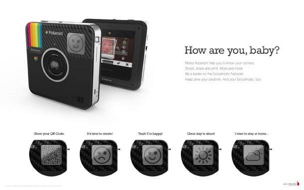 หน้าจอแสดงอารมณ์ กล้อง Socialmatic