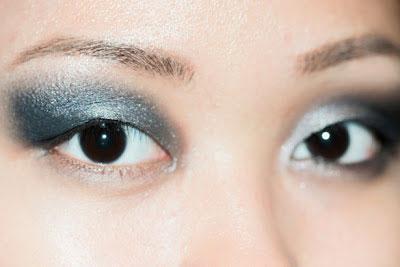 อายแชโดว์ ไล่สีฟ้าสีน้ำเงิน บนสีดำ