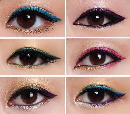 อายไลเนอร์ ขอบตาบน ขอบตาล่าง คนละสี