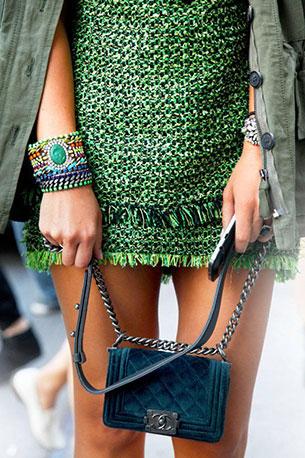 เดรสสั้น สีเขียว