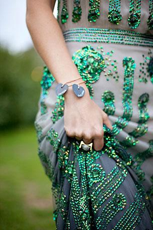 เดรสแต่งงาน ลายสีเขียว
