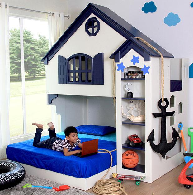 เตียงนอนเด็ก บ้านชายทะเล