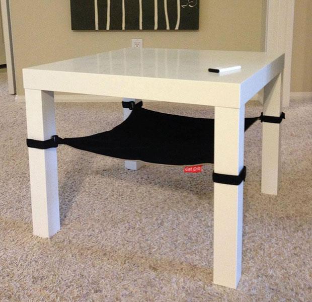 เอาใจแมว เปลแมวใต้โต๊ะ