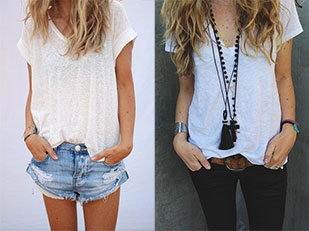 เสื้อยืดขาว
