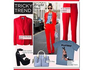 เสื้อ Marc Jacobs, เสื้อคลุม Lanvin, กางเกง no21