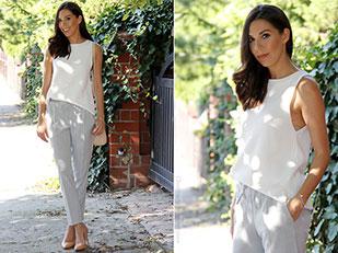 เสื้อ Zara, กางเกงสีเทา