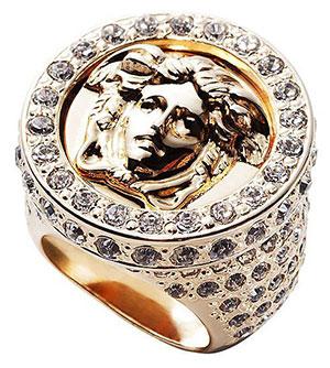 แหวน Versace ประดับคริสตอล