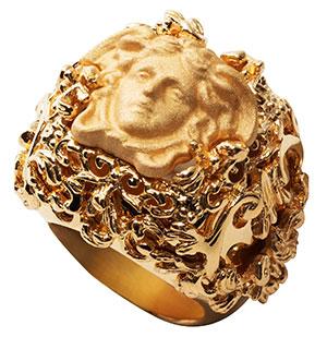 แหวน Versace สีทอง