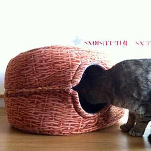 DIY เตียงนอนแมว