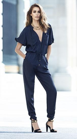 H&M จั๊มสูท สีน้ำเงิน