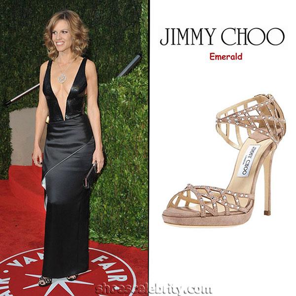 Hilary Swank - รองเท้า Jimmy Choo