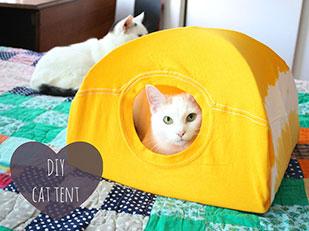 Tent แมว DIY ไม้แขวนเสื้อ เสื้อยืด