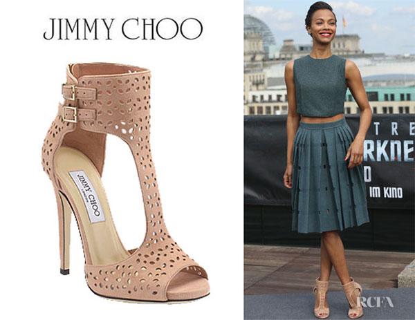 Zoe Saldana - รองเท้า Jimmy Choo