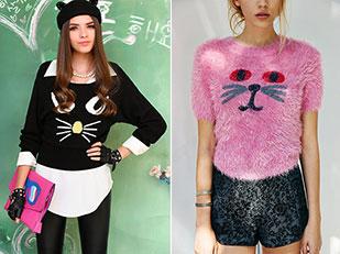 sweater ลายแมว