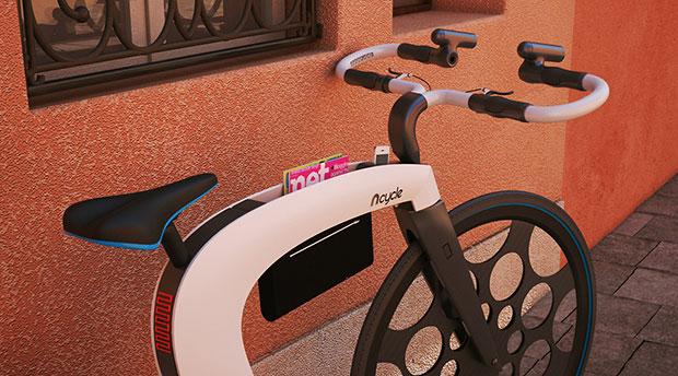 จักรยาน nCycle - ที่เก็บของ