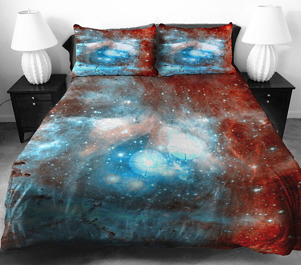 ชุดผ้าปูที่นอนลายอวกาศ