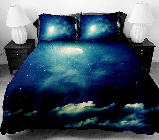 ชุดผ้าปูที่นอน ลายท้องฟ้า พระจันทร์