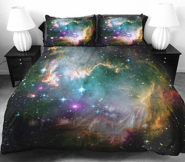 ชุดผ้าปูที่นอน ลายอวกาศ