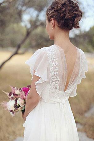 ชุดแต่งงานแบบเรียบ