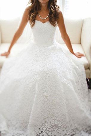 ชุดแต่งงาน กระโปรงลูกไม้