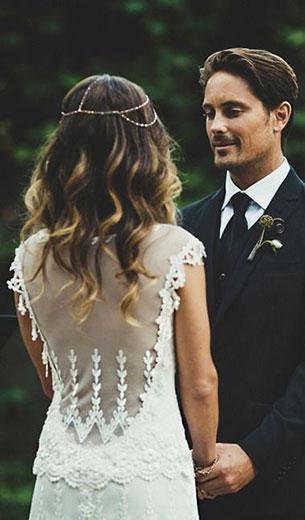 ชุดแต่งงาน ผ่าหลัง ซีทรู