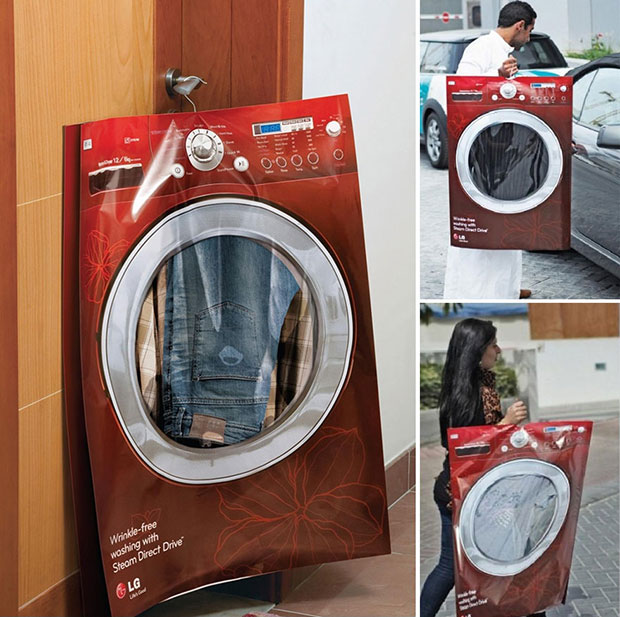 ถุงคลุมเสื้อผ้า เครื่องซักผ้า