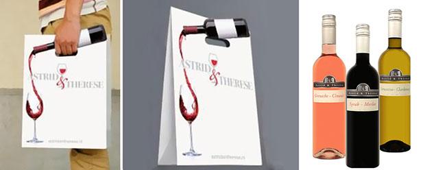 ถุงช้อปปิ้ง เทไวน์