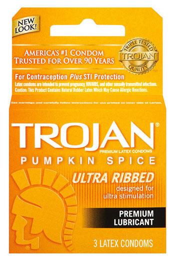 ถุงยางอนามัย Trojan กลิ่นเครื่องเทศฟักทอง