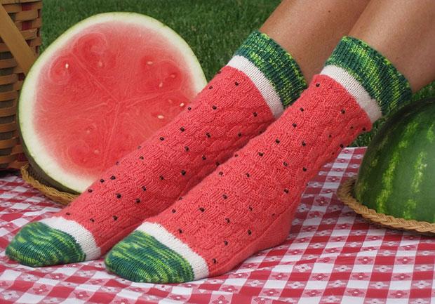 ถุงเท้า แตงโม