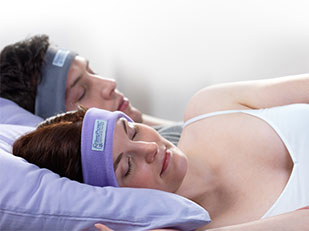 นอนหลับสบาย SleepPhones ผ้าคาดศีรษะหูฟัง
