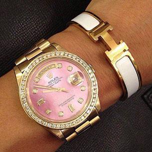 นาฬิกา Rolex สีชมพู