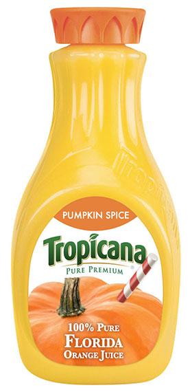 น้ำส้ม Tropicana กลิ่นเครื่องเทศฟักทอง