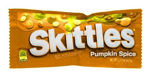 ลูกอม Skittles กลิ่นครื่องเทศฟักทอง